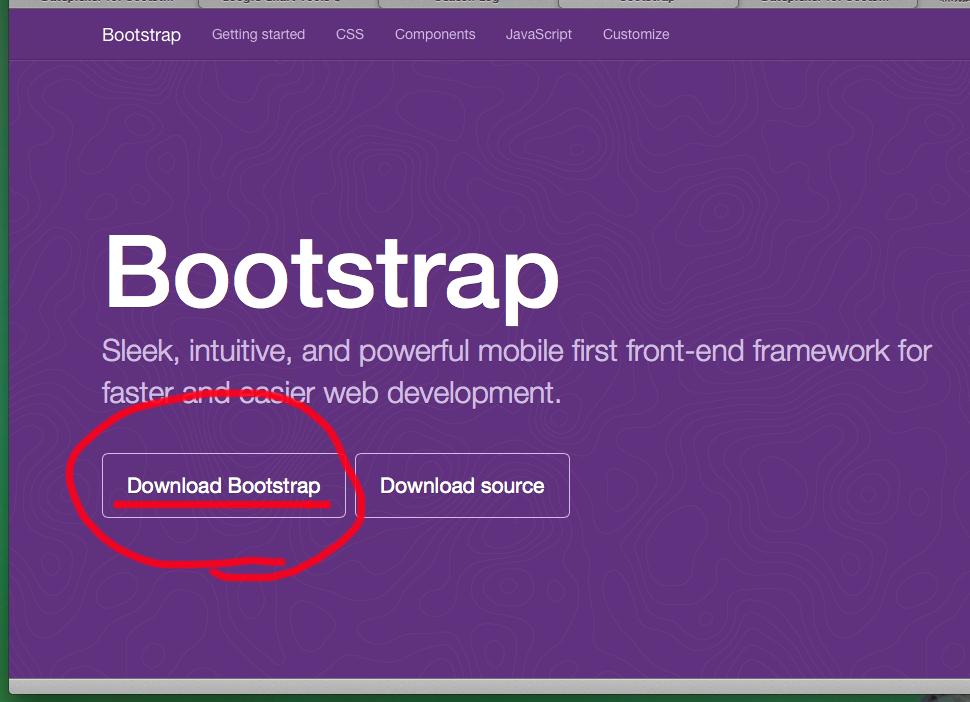 Bootstrap ダウンロード